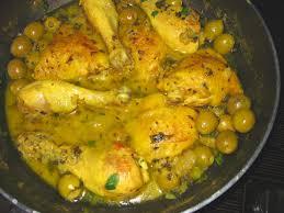 cuisine choumicha poulet tajine de poulet aux olives