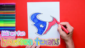 Houston Texans Flags How To Draw And Color The Houston Texans Logo Nfl Team Series