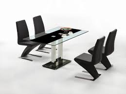 Modern Glass Dining Table by Dining Room Modern Leather Brown Contemporary Dining Chairs