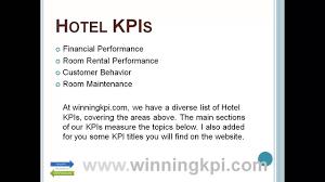 hotel kpis example youtube