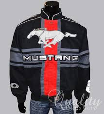 ford mustang jacket ford mustang 5 0 jacket large black racing stripes jh design