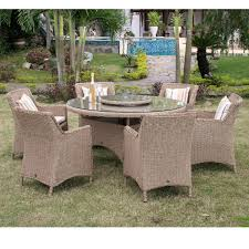 patio table lazy susan saigon 6 seater set with lazy susan with parasol notcutts notcutts