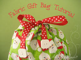cloth gift bags dear tracks fabric gift bags