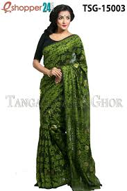 jamdani sharee tangail moslin jamdani saree tsg 15003 online shopping in