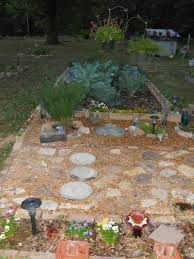 rock pathway with brick and cinder block garden bed gardening rock pathway with brick and cinder block garden bed