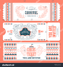 vintage circus banner collection ticket invitation stock vector