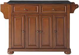kitchen island cherry amazon com crosley furniture alexandria kitchen island with