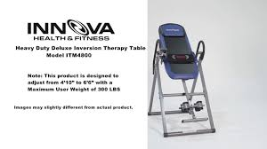 max performance inversion table innova fitness itm4800 inversion table installation guide youtube