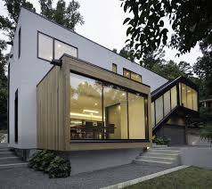 sloping lot l shaped modern minimal residence on a sloped lot in raleigh