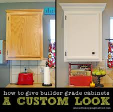 Cabinets With Crown Molding I Should Be Mopping The Floor Giving Builder Grade Cabinets A