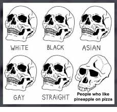 Gay Meme Asian - white black asian gay straight people who like pineapple on pizza