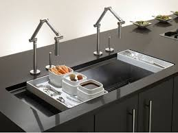 modern kitchen sink faucets large faucet kitchen sink could service two work areas a