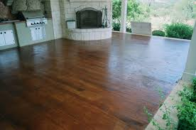 Stain Concrete Patio Yourself Concrete That Looks Like Wood