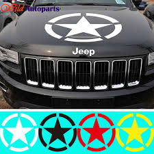jeep grand cherokee stickers brothers the u s army star engine hood sticker decal vinyl for jeep
