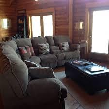 queen sleeper sofa with memory foam mattress spend christmas at deer creek cabin private vrbo