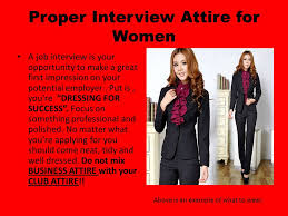 proper interview attire for women a job interview is your