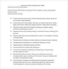 Marketing Assistant Job Description For Resume by Job Description Sample Secretary Job Description Sample