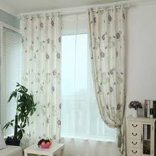 Modern Floral Curtain Panels Pastoral Decorative Printed Modern Floral Curtain Panels For Bedroom