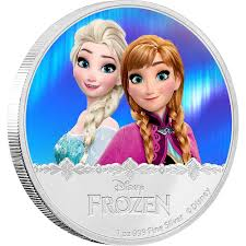 disney frozen silver coin elsa u0026 anna zealand mint
