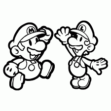 paper mario coloring pages paper mario and luigi coloring page