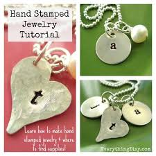 Personalized Stamped Necklace Hand Stamped Necklace Tutorial Diy Gift