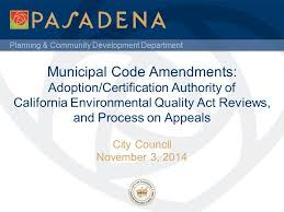 Council On Environmental Quality Guidelines Planning Community Development Department Municipal Code