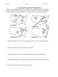 Cold Front Map Weather Map Worksheet Worksheets For Dropwin