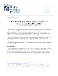 Estimate Income Tax 2015 by How Much Would A State Earned Income Tax Credit Cost In Fiscal