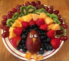 fruit turkey platter for thanksgiving crafty morning