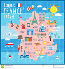Marseille France Map by France Travel Map Stock Vector Image 68370924