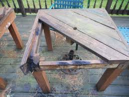 Build Your Own Wooden Patio Table by Build Your Own Solid Wood Patio Table Swampy Acres Farm Blog