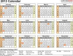 calendar for 2013 calendar