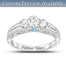 birthstone ring forever yours personalized birthstone womens ring