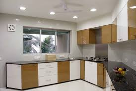 excellent grey kitchen designs feat four spot ceiling lights over