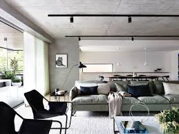 Ceiling Track Light Flat Out Rethinking Walsh Apartment Ceiling Concrete