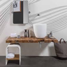 Teak Bathroom Mobile Top Sospeso Per Bagno In Legno Di Teak Massello Natura By
