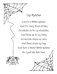 my spider poem pdf reading in the class pinterest spider