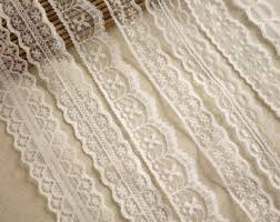lace ribbon by the yard cotton lace fabric trim beige floral crochet cotton