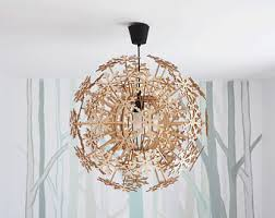 Diy Light Pendant Butterfly Lamp Shade Wood Lamp Wooden Lampshade Pendant