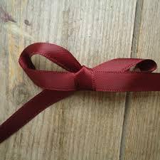 maroon ribbon maroon satin ribbon 8mm handbound costumes