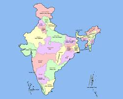 Map Of India Cities Map Of India 28 States And Capitals India Map Outline India