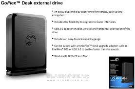 Seagate Goflex Desk by Seagate Goflex Adds Swappable Usb 3 0 Esata Firewire Cables Media
