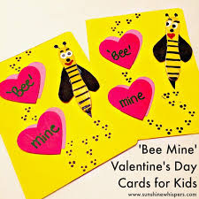 kids valentines day cards adorable bee mine s day cards for kids