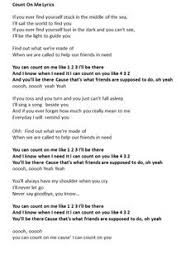 Count On You By Bruno Mars The Lyrics For The Song Titanium By Sia I This Song