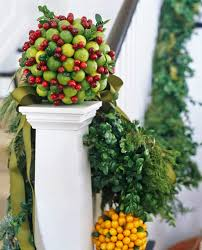 Fruit Decoration For Christmas by Festive Holiday Staircases And Entryways Traditional Home