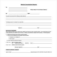 sample medical consultation form 11 download free documents in