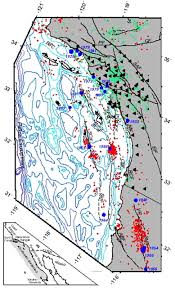 Newport Inglewood Fault Map Earthquake Locations In The Inner Continental Borderland Offshore