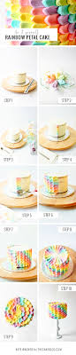 how to make a cake step by step diy rainbow petal cake