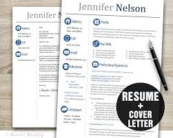 Creative Resume Templates Word Teacher Resume Template Word Cover Letter Template Instant