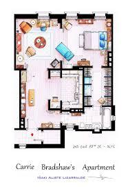 tv show apartment floor plans detailed floor plans of tv show apartments twistedsifter